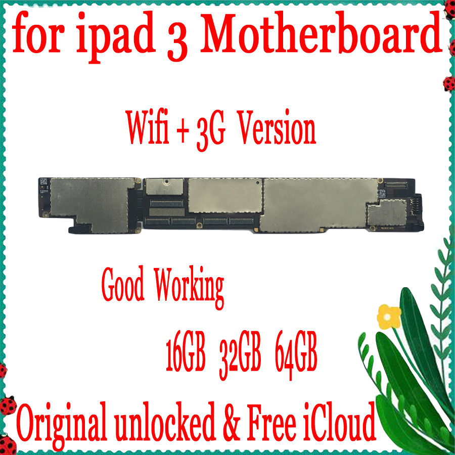 with SIM Card for ipad 3 Wifi+3G Version Motherboard,Original unlocked for ipad 3 Wifi+3G Version Mainboard,Free iCloudwith SIM Card for ipad 3 Wifi+3G Version Motherboard,Original unlocked for ipad 3 Wifi+3G Version Mainboard,Free iCloud