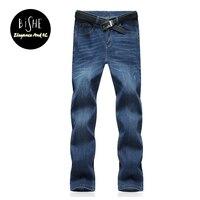 Large Plus Size 40 42 44 46 48 50 52 Blue Elastic Men Jeans Slim Fit