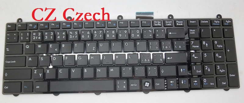 Laptop Keyboard For MSI GP62 2QD 2QE 6QE 6QF AR Arabic BE Belgium CZ Czech HB Hebrew IT Italian KR Korean NE Nordic SP Spanish laptop keyboard for clevo w550su1 w551su1 black without frame czech cz