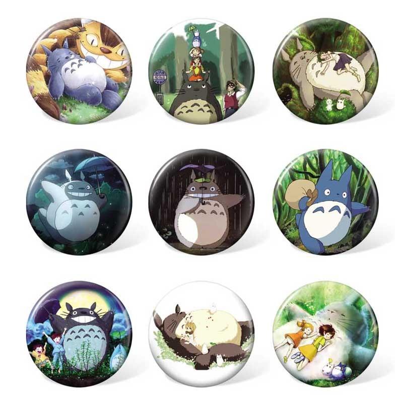 (9pcs/set ) My Neighbor Totoro Anime Cartoon Badge Tonari No Totoro Costume Brooch Backpack Or Bag Accessories
