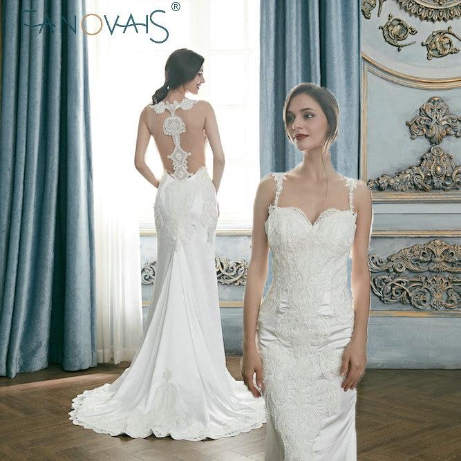 Vintage Lace Wedding Dresses 2019 Spaghetti Straps Bridal