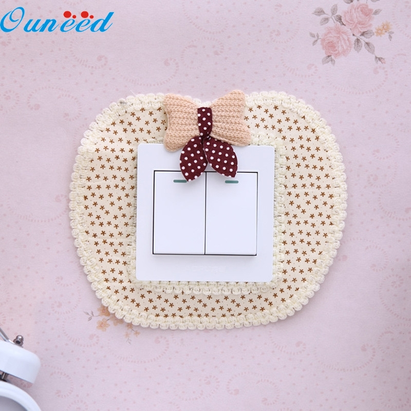 Ouneed Happy Home Pastoral Style Switch Cover Creative Apple Shape Switch Stickers 1 Piece картридж hp cf542x 203x yellow для color lj pro m254dw m254nw m280nw m281fdn m281fdw 2500стр