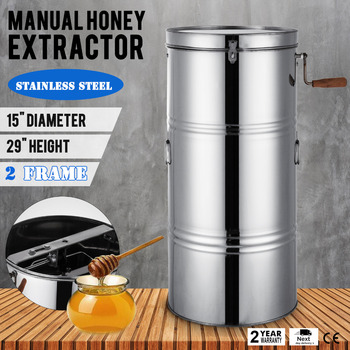 2 Frame Honey Extractor Stainless Steel Beekeeping Equipment