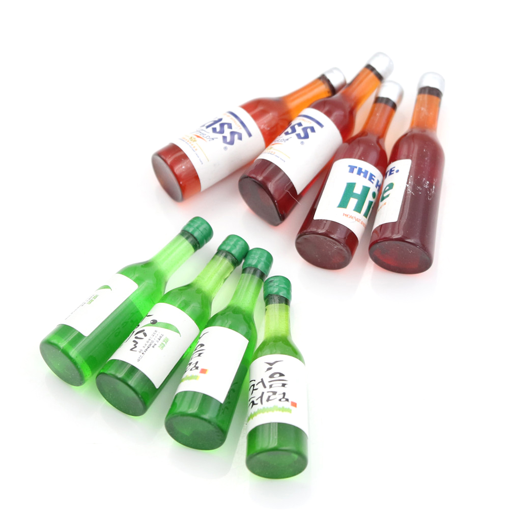 Mini Dollhouse Customized Bottle Of Soju Wine Bottles  Miniature  Model Pretend Play Mini Food Doll Fit  Toy Accessories