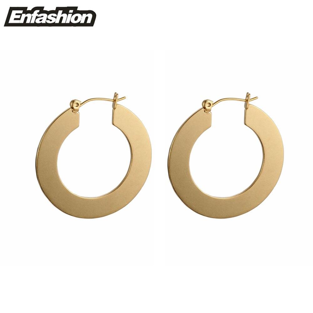 Enfashion Vintage veliki naušnica naušnice mat zlatne boje - Modni nakit - Foto 3