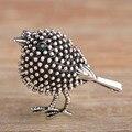 Vivid plateado plata antigua del pájaro lindo broches para mujeres niños Regalos de Año nuevo Granos de la Aleación Broches Pins Extremidades Del Collar joyería