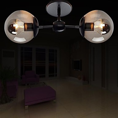 Modern Simple Artistic Ceiling Lamp With 2 Lights For Living Room Light Fixtures Plafon Lamparas De Techo noosion modern led ceiling lamp for bedroom room black and white color with crystal plafon techo iluminacion lustre de plafond