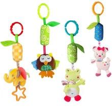 Baby spädbarn djur elefant kanin ugla groda mjuka rattlar säng spjälsäng barnvagn musik hängande bell barn fyllda leksaker 40% rabatt