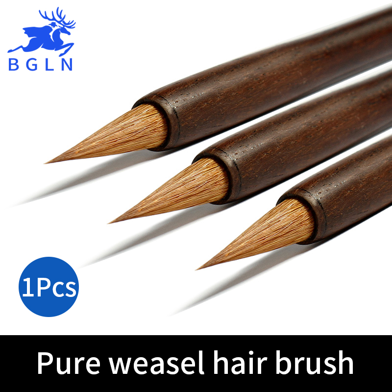 BGLN 1Piece Pure Weasel Hair Chinese Calligraphy Brushes Pen Calligraphy Pen Artist Drawing Brush For Writing Painting Brush 3pcs set chinese calligraphy brushes pen with weasel hair writing brush artist paint brush