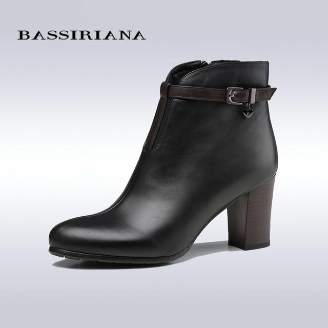 Bassiriana nuevo modelo 2017 cuero genuino zapatos de mujer botines ...