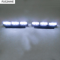 FREE SHIPPING Super Bright 2x 6 LED Car Strobe Light High Power WHITE