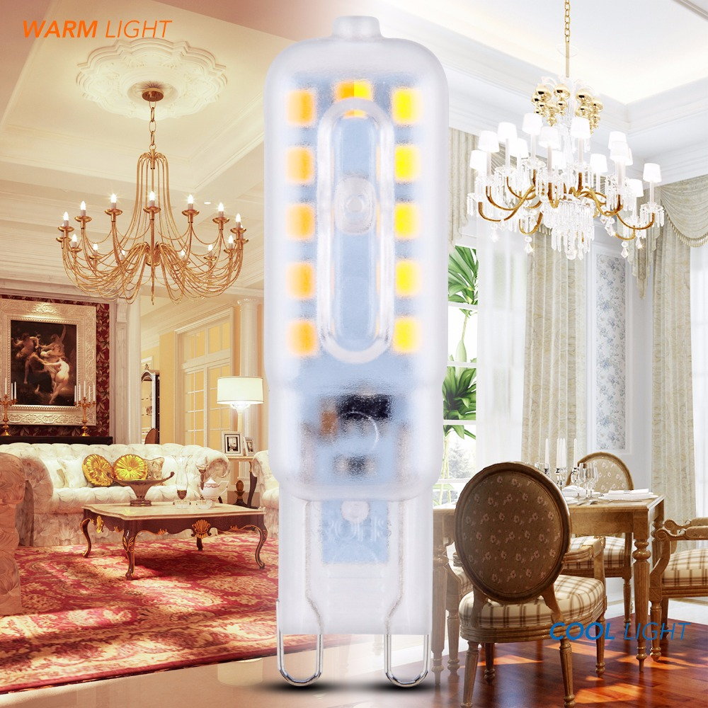 Купить с кэшбэком G9 Led Bulb 220V Led ampul 14 22leds Corn Bulbs 3W 5W SMD2835 ampoule led g9 Candle Lamps High Brightness Lights For Indoor Home