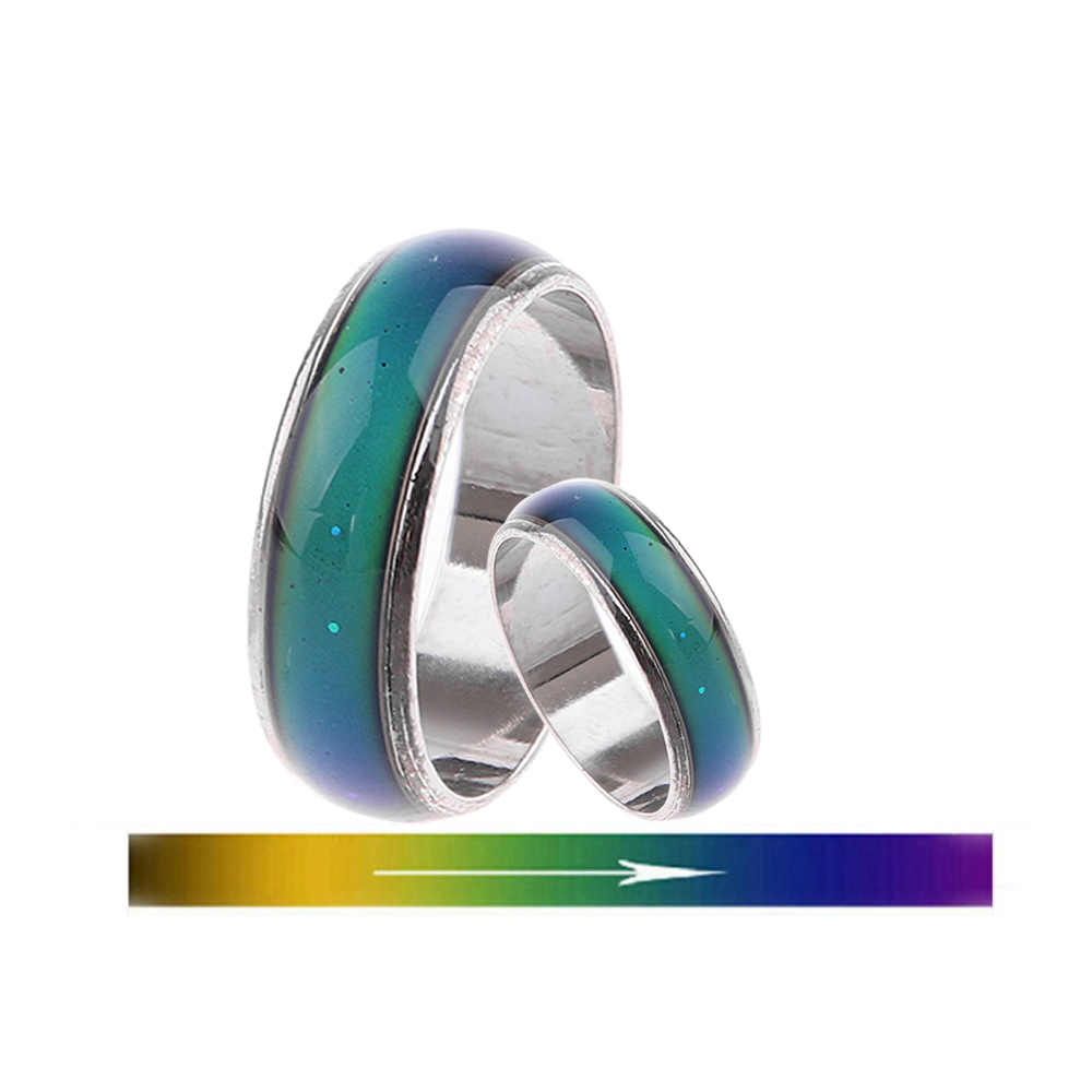 ステンレスリング変更色ムードリング感感情温度リングワイド 6 ミリメートルスマート宝石類ジュエリー Anillos Mujer Halka