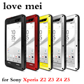 LOVE MEI Powerful Metal Case for Sony Xperia Z2 Z3 Z4 Z5 Compact Z5 Z5 Premium Luxury Aluminum Dirt Waterproof Shockproof Cover