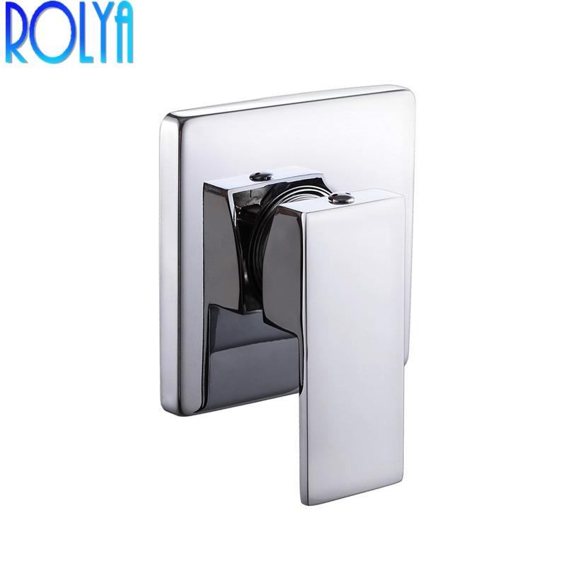 ห้องน้ำวาล์วหยาบฝักบัวอาบน้ำเดี่ยวปกปิดระบบควบคุมสแควร์ 1/2 นิ้ว IPS Connector Chrome-ใน ก๊อกน้ำอาบน้ำ จาก การปรับปรุงบ้าน บน AliExpress - 11.11_สิบเอ็ด สิบเอ็ดวันคนโสด 1