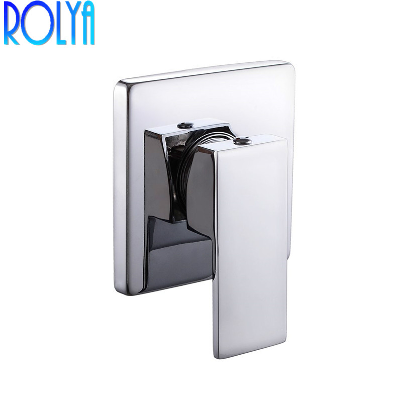 Bathroom Rough in Valve Shower Trim Single Handle Concealed Shower System Control Square 1/2 Inch IPS Connector In Chrome-in Shower Faucets from Home Improvement    1