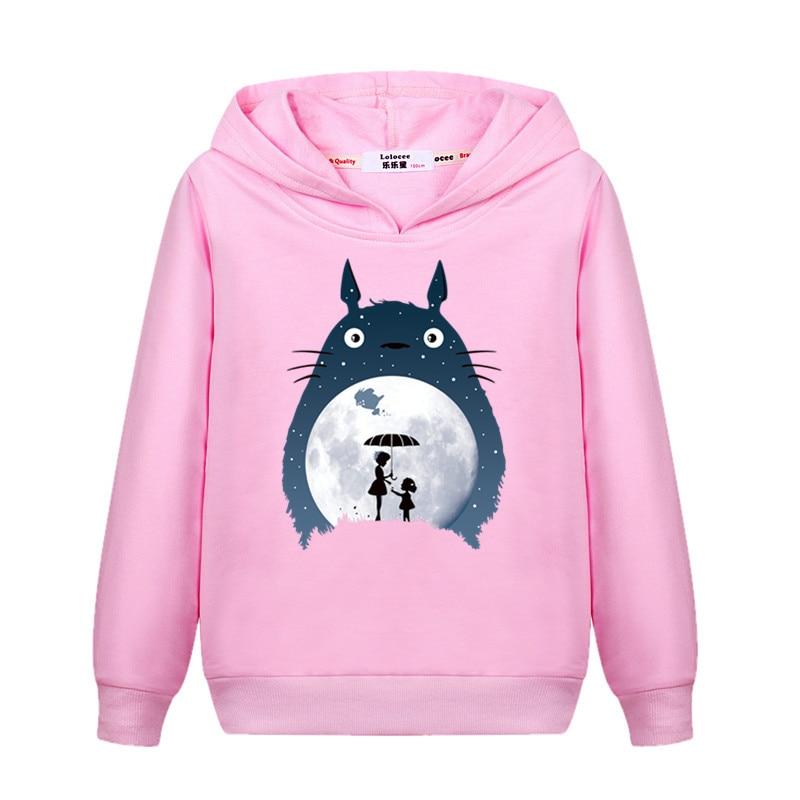 Girl's totoro Casual Sweatshirt Long Sleeve Fall Winter Hoodie Kids Fashion Cartoon pullover New Cotton Coat 1