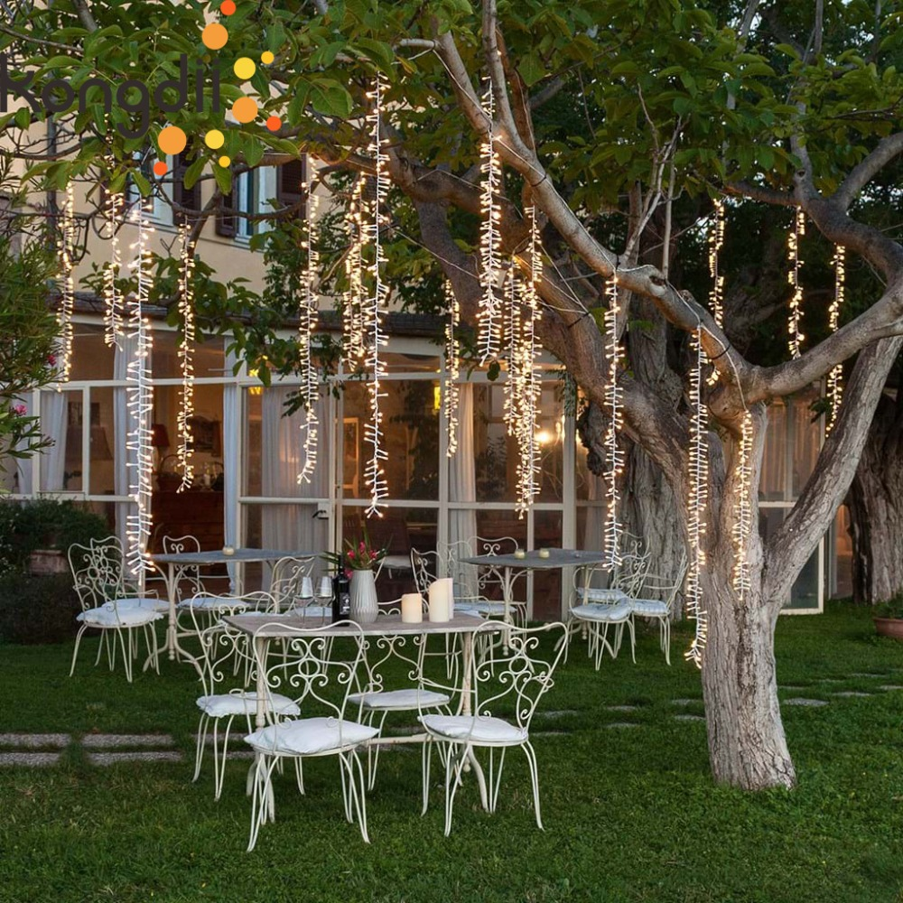 4mx3.5m Outdoor Led Tree Decoration Fairy Lights Christmas Garland String Lights Led For Wedding Garden Party Curtain Decoration