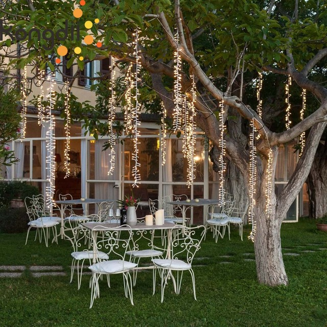 4x3 5m Outdoor Led Tree Decoration Fairy Lights Christmas Garland String For Wedding Garden Party Curtain