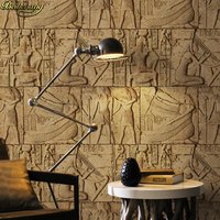 beibehang High Quality Embossed wallpaper 3D Egypt ancient wall murals Classical sculpture vintage PVC vinyl wallcovering waterp