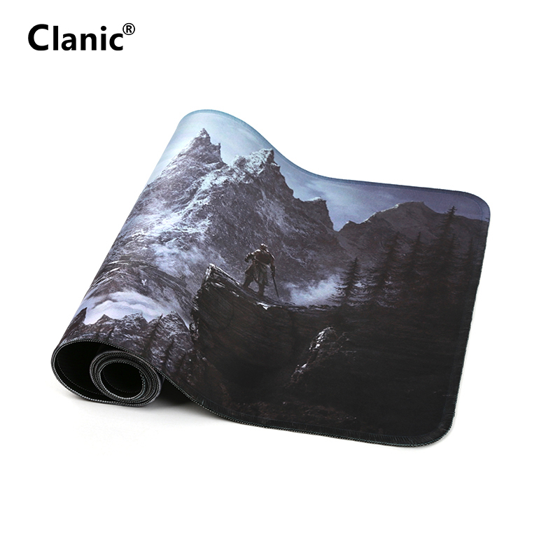 80x30cm Popular host computer stand-alone game mouse pad for the elder scrolls v skyrim large gaming mousepad 800*300mm image