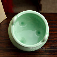 Dai Yutang ceramic Buddha Buddhism supplies Longquan celadon incense burner stick of and road