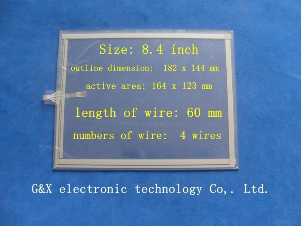 NTX0100-7201R 5 9 NTX0100-5601R Painel da Tela de Toque Original Resistivo de 8.4 polegada 4
