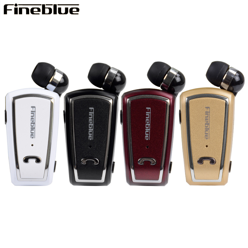 Original Fineblue F-V3 Mini Retractable Stereo Bluetooth Headset Wireless Clip Headphones For IOS Android Bluetooth 4.0 fineblue f980 retractable mini wireless bluetooth earphones handsfree headset stereo headphone clip mic phone call portable