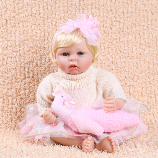 Soft Silicone Reborn Baby Dolls Toy Beautiful Newborn Babies Play House Bedtime Toy Birthday Gift Priencess Collectable Doll 55cm soft body silicone reborn baby dolls toy lifelike newborn boy babies doll play house toy collectable doll christmas gift