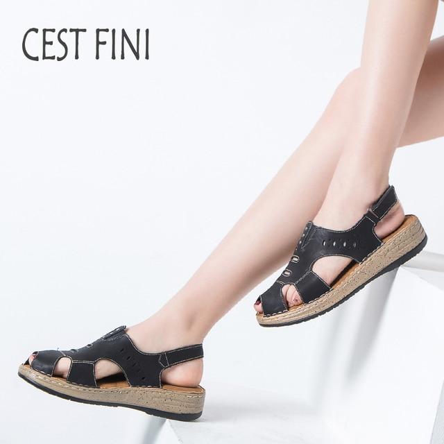 0836442105e733 CESTFINI Women Summer Shoes Ladies Sandals brand women Open Toe Sandals  Leather Women Casual Shoes