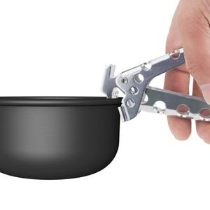 Image 2 - Походный горшок, сковорода, захват, ручка, захват для чаши, уличная посуда для пикника, посуда для туризма, антигорячий горшок, держатель для сковородок