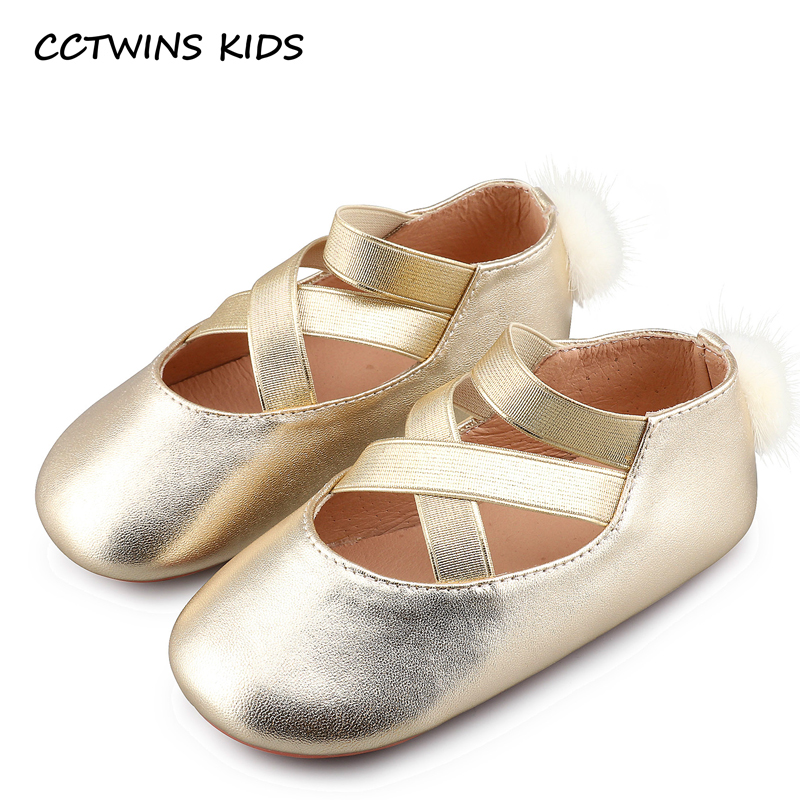 Cctwins Kids Summer Baby Girl Silver Ballet Pump