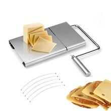 1 шт. проволока для резки сыра резак кухня нержавеющая сталь доска масло резак сыра ломтик сыра нож для резки сыра