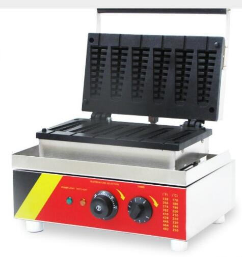 220v/110v Electric stainless steel commercial home use 5pcs waffle on stick lolly waffle maker machine