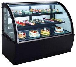 خزانة كعك مبرد الهواء لحفظ الثلاجة الطازجة خزانة عرض مبردة بعرض 0.9 متر