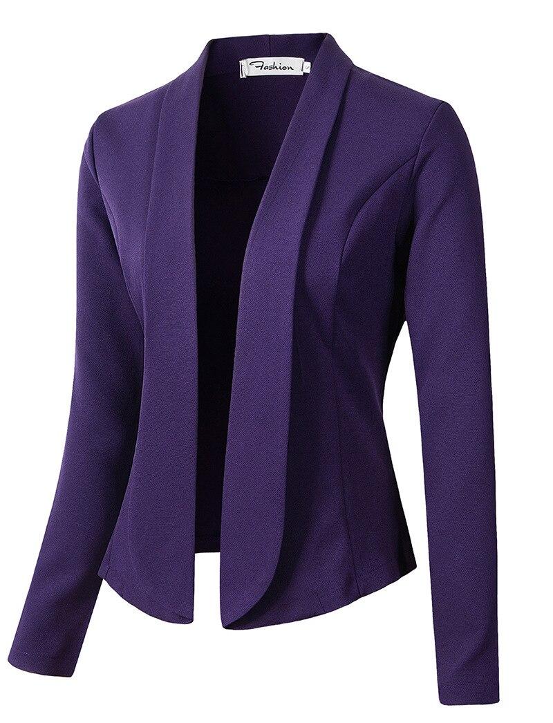 Blazers Suits & Sets Fashion Spring Autumn Women Blazers And Jackets Work Office Lady Suit Slim White Black Blue Button Business Female Blazer Coat