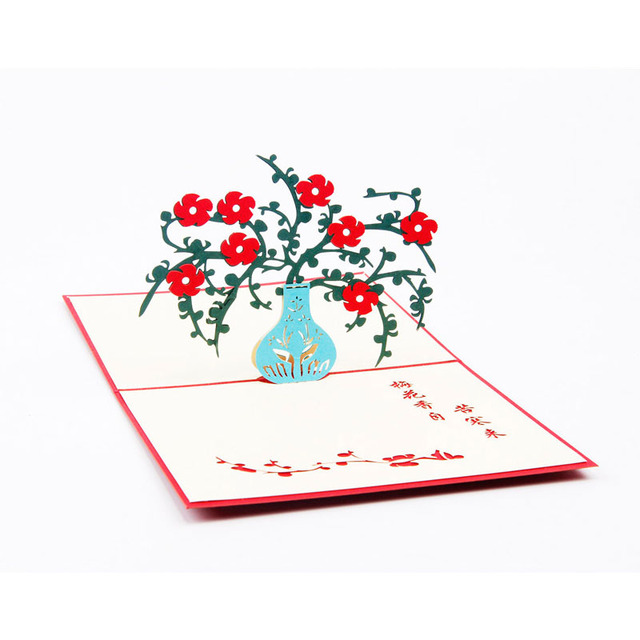 10pcs plum flower diy 3d pop up laser cut greeting cards postcards handmade origami birthday gift teachers day party supplies in cards invitations 10pcs plum flower diy 3d pop up laser cut greeting cards postcards handmade origami birthday gift mightylink