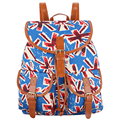 New 2017 Handmade The Union Jack Flag Canvas Printing Backpack Women Drawstring Rucksack Bagpack Mochilas Feminina Sac A Dos