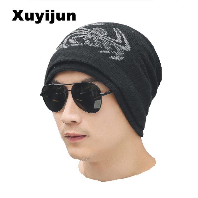 цена на XUYIJUN 2017 Brand Beanies Knit Men's Winter Hat Caps Skullies Bonnet Hats For Men Women Beanie Fur Warm Baggy Wool Knitted Hat