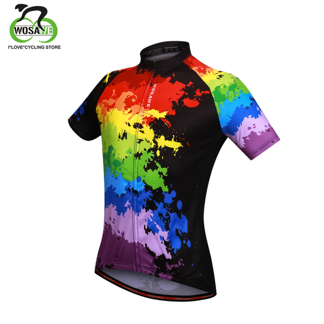 WOSAWE Waves sublimation printing cycling jersey NEW Arrival pro polyester cycling  clothing summer men quick dry bicycle wear 2a6c75db0