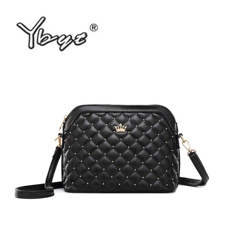 YBYT Brand 2019 New Women Shoulder Bags Ladies Diamond Lattice Casual Package Women Shell Messenger Crossbody Bags Ladies Bags