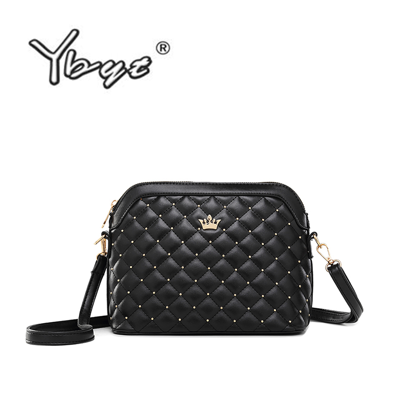 YBYT Brand 2019 New Women Shoulder Bags Ladies Diamond Lattice Casual Package Shell Messenger Crossbody