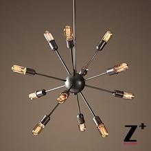 Реплика пункт Американский Стиль Спутник подвесной светильник головы лампы Эдисон железа Лампы промышленные Светильники free доставка
