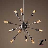 Replik artikel amerikanischen stil sputnik pendelleuchte köpfe lampen edison eisen lampe industrielle lichter free verschiffen