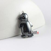 hematite penguin pendant accessories diy accessories