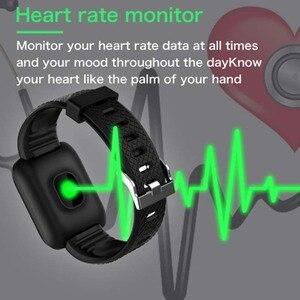 Image 5 - Reloj inteligente deportivo D13, pulsera inteligente deportiva con control de la presión sanguínea y del ritmo cardíaco, 116 Plus