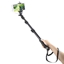 YUNTENG YT-1188 Selfie Stick Wired Cable Aluminum Alloy Handle Monopod with Phone Clip