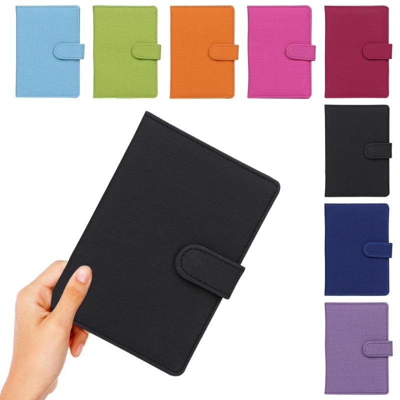 купить THINKTHENDO New Fashion Unisex Travel Passport Holder ID Card Protector Organizer Cover Wallet Men Women Card Holders по цене 125.12 рублей