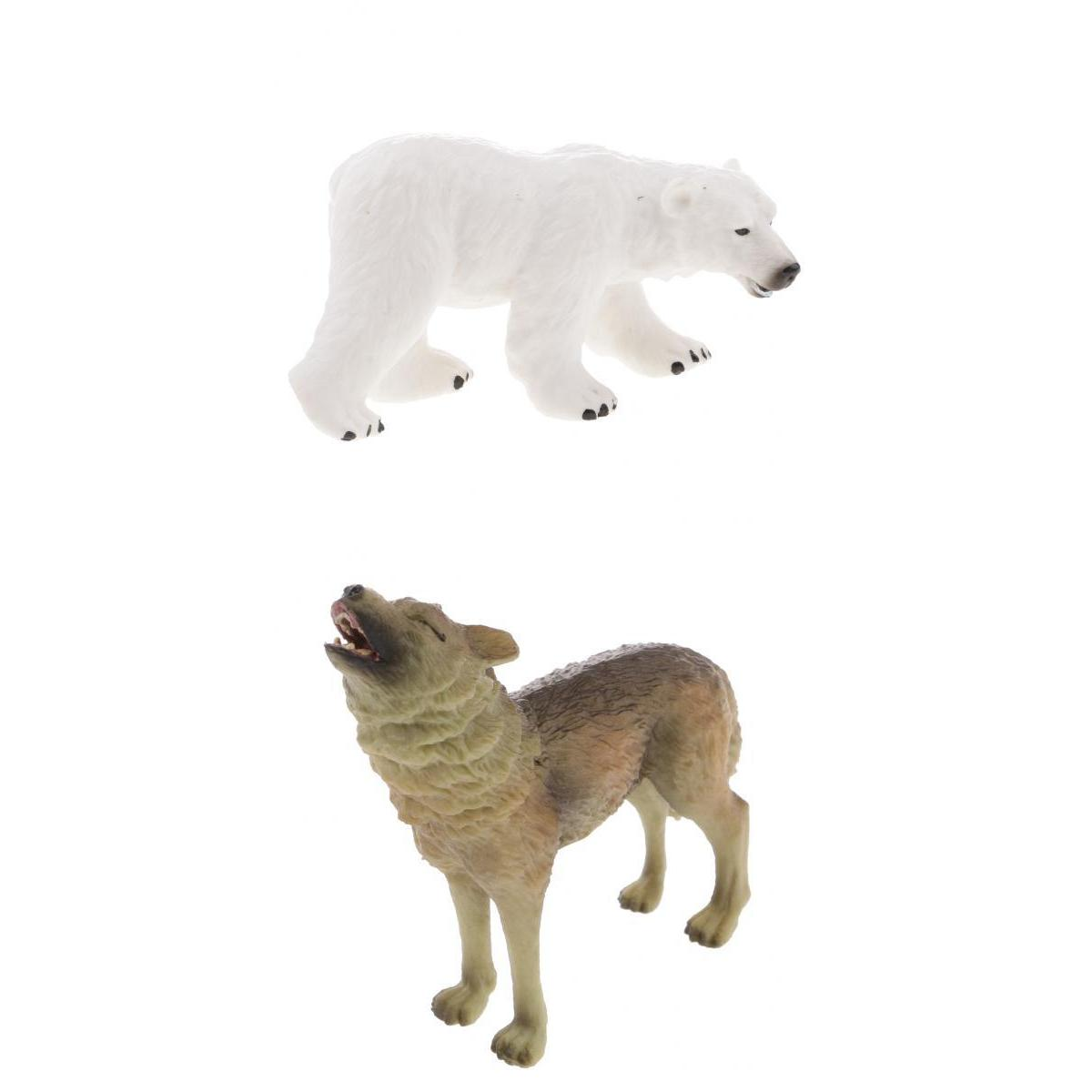 Toy Model-Set Action-Figures Birthday-Gift Animal Kids Realistic Wolf Polar-Bear