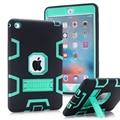 WeFor Чехол Для Apple iPad Mini 4 Противоударный Heavy Duty Резиновые с Жесткий Чехол Fundas Ж/Screen Protector + Стилус
